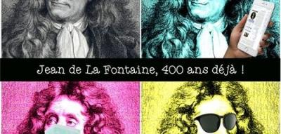 logo de l'évènement sur les 400 ans de Jean de la Fontaine - Bibliothèque Langlois