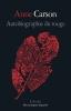 """Couverture du roman poétique """"Autobiograpie du rouge"""" d'Anne Carson chez L'Arche"""