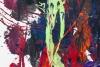 Mélange de peintures sur un tableau