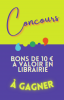 concours bons de 10€ à valoir en librairie à gagner
