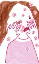 """illustration de la bd """"La petite maladie"""" de Sarah Edinger"""