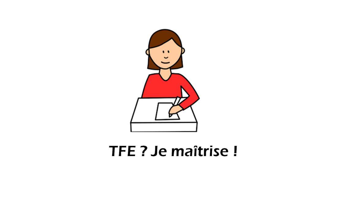 Un logo composé du dessin d'une étudiante et du titre de l'activité
