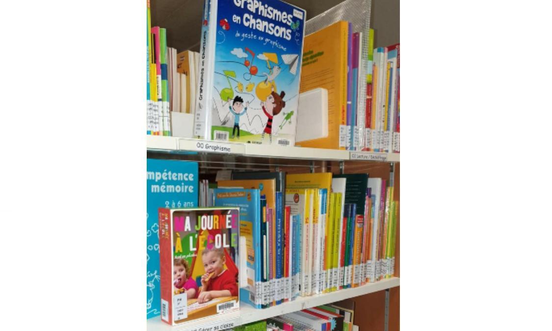 deux étagères avec des livres de la pédagogie