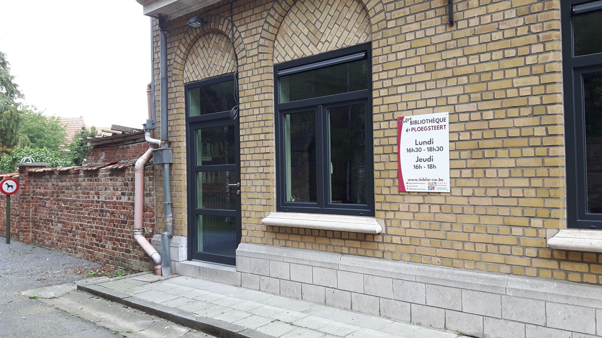 Façade de la bibliothèque de Ploegsteert