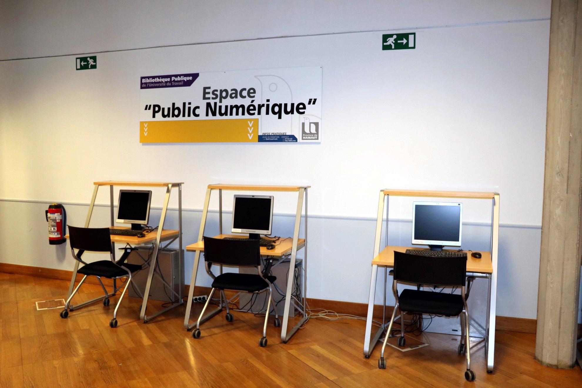 Espace public numérique la la bibliothèque Langlois